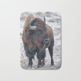 In The Presence Of Bison #society6 #decor #bison by Lena Owens @OLena Art Bath Mat