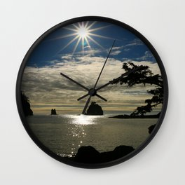 Last Sun's Rays For That Day Wall Clock