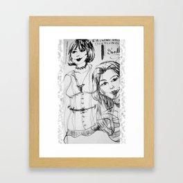 Black & White GingerDoodle Framed Art Print