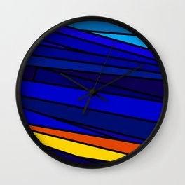 Big Blue Wall Clock