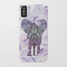 FLOWER SHOWER ELEPHANT iPhone Case