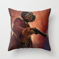 django Throw Pillows featuring Django by Andrea Mangiri