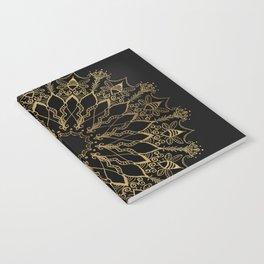 Golden Bee Mandala Notebook