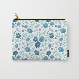Winter Green Florals Carry-All Pouch