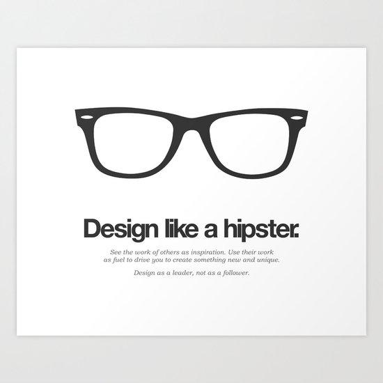 Hipster Designs Art Print