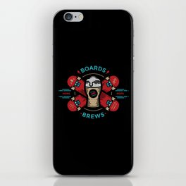 Boards and Brews iPhone Skin