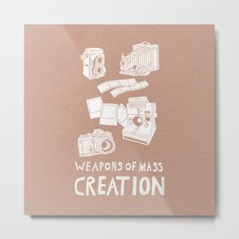 Weapons Of Mass Creation - Photography (white) Metal Print