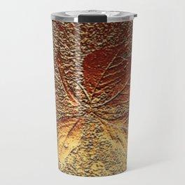 Rust glitter leaves in fall Travel Mug