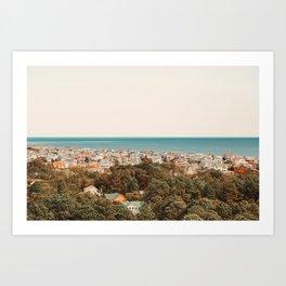Where The Land Meets The Sea Art Print