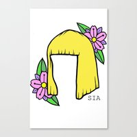 sia Canvas Prints featuring SIA BOB by Melina Espinoza