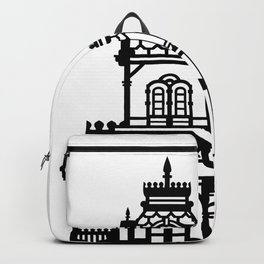 Old Victorian House - black & white Backpack
