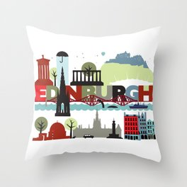 Edinburgh landmarks & monuments  Throw Pillow