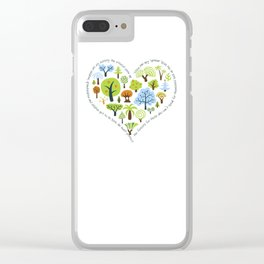 Protect the Forests: Love Trees Clear iPhone Case