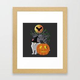 Cat Halloween Boys Framed Art Print