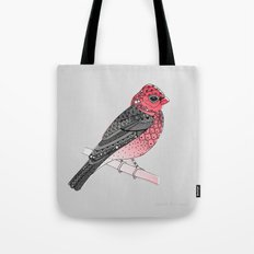 Scarlet Rosefinch Tote Bag