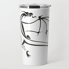 A simple flying dragon Travel Mug