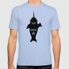 GNARWHAL Mens Fitted Tee MEDIUM Tri-Blue