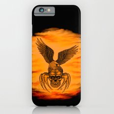 Spider Skull and Eagle in Tattoo Style , Black Red Yellow design iPhone 6s Slim Case
