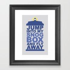Snog Box (Tardis) Framed Art Print