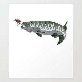 Musky Muskie Pike Muskellunge Fishing Fisherman Art Print
