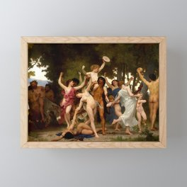 """William-Adolphe Bouguereau """"The Youth of Bacchus"""" Framed Mini Art Print"""
