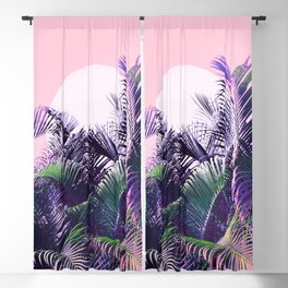 Jungle Sunrise - Ultra violet, green, pink and purple Blackout Curtain