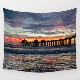 Huntington Beach Sunset  1/26/14 Wall Tapestry