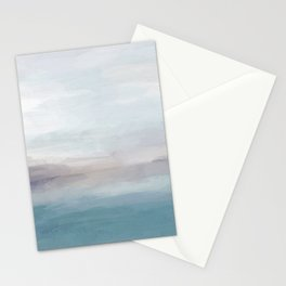 Light Gray, Mauve, Turquoise Aqua Blue Print Modern Wall Art, Abstract Painting Stationery Cards