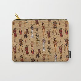 Vintage tattoo pinup, rockabilly pin up girls Carry-All Pouch