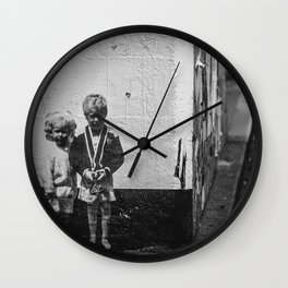Seattle, Post Alley murals Wall Clock