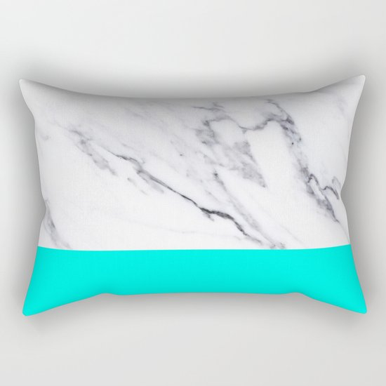 Marble Blue Luxury iPhone Case and Throw Pillow Design Rectangular Pillow