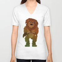 oz V-neck T-shirts featuring OZ - Lion by Drybom