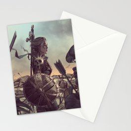 Warrior 6 Battlefield Color Stationery Cards