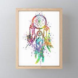 Dreamcatcher Art Colorful Watercolor Art Gift Dreamy Art Framed Mini Art Print