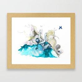 Poised Pisces Framed Art Print