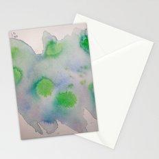 Lime Burst Stationery Cards