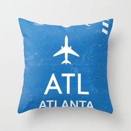 Hartsfield–Jackson Atlanta International Airport Throw Pillow