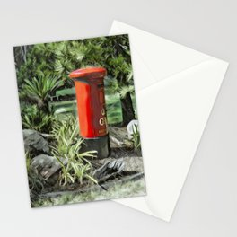 King George VI Red Post Box Stationery Cards