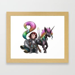 Aurelia The Crusader Framed Art Print
