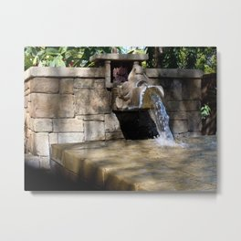 Fountain in Anandapur. Metal Print