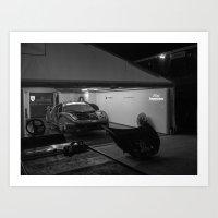 ferrari Art Prints featuring Ferrari by Trackography
