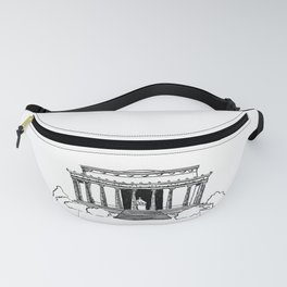 Lincoln Memorial DC Sketch Fanny Pack