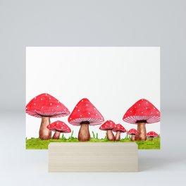 Red Mushrooms Mini Art Print