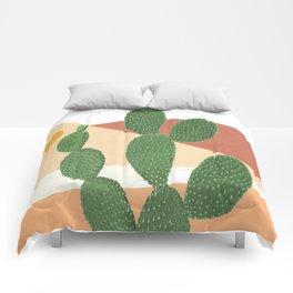 Abstract Cactus II Comforters