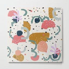Abstract colorful print and figures design Metal Print