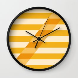 Striped Shadow 2 Wall Clock