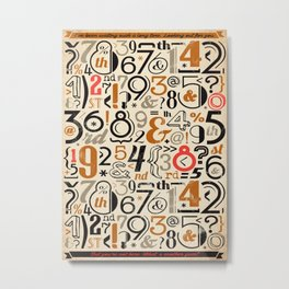 All Numbers - 2018 - Notebooks & more Metal Print