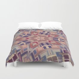 Paint chip kaleidoscope Duvet Cover