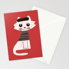 Mark the cat goes to Paris Stationery Cards