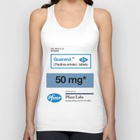 posters Tank Tops featuring Kitchen Posters - Viagra/Guarana by mvaladao